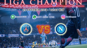 Prediksi Pertandingan Liga Champion Paris Saint Germain vs Napoli 24 Oktober 2018