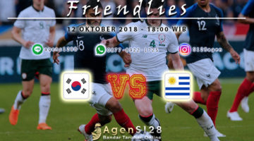 Prediksi Pertandingan Friendlies South Korea vs Uruguay 12 Oktober 2018