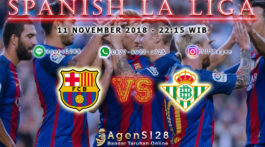 Prediksi Pertandingan Spanish La Liga Barcelona vs Real Betis 11 November 2018