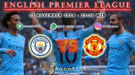 Prediksi Pertandingan English Premier League Manchester City vs Manchester United 11 November 2018