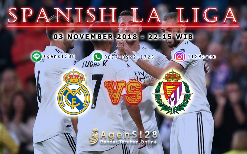 Prediksi Pertandingan Liga Spanyol Cultural Real Madrid vs Valladolid 03 November 2018